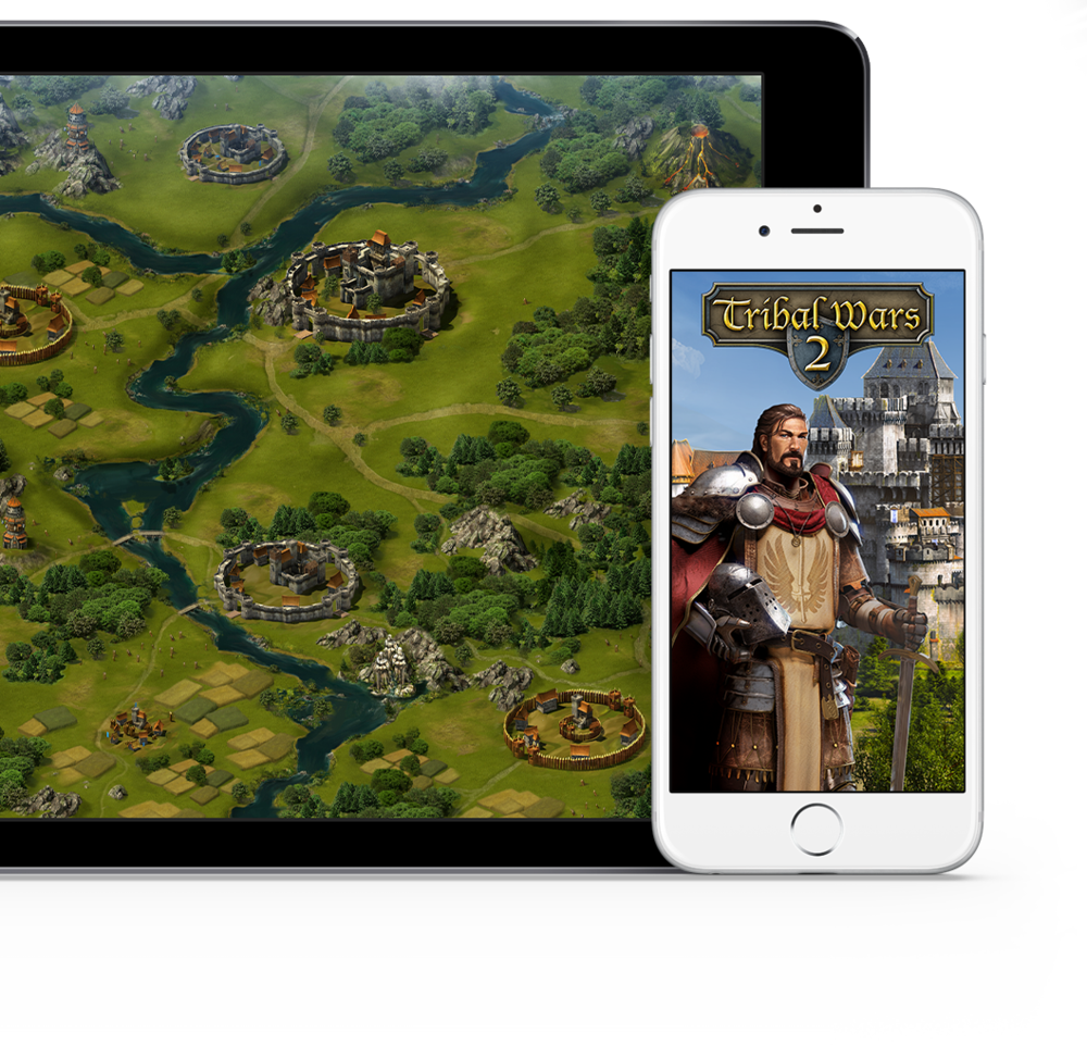 Tribal Wars 2 on touch devices