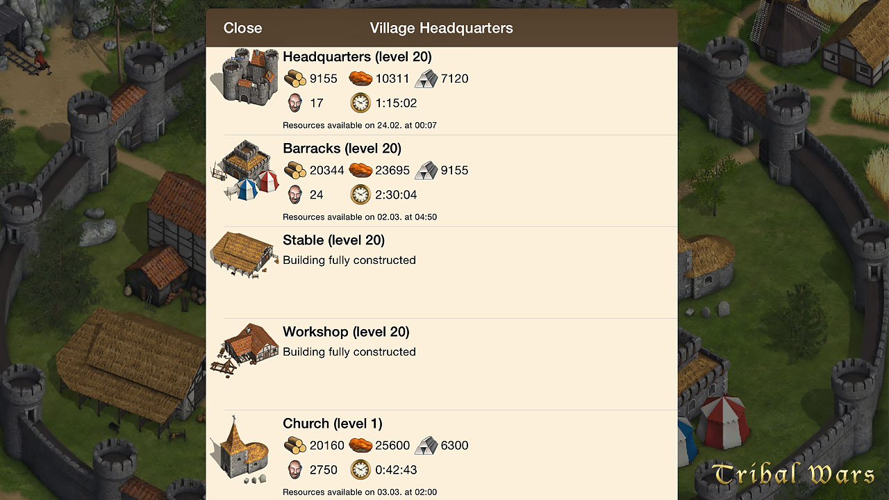 Tribal Wars – Online Strategy in the Middle-Ages  Build your