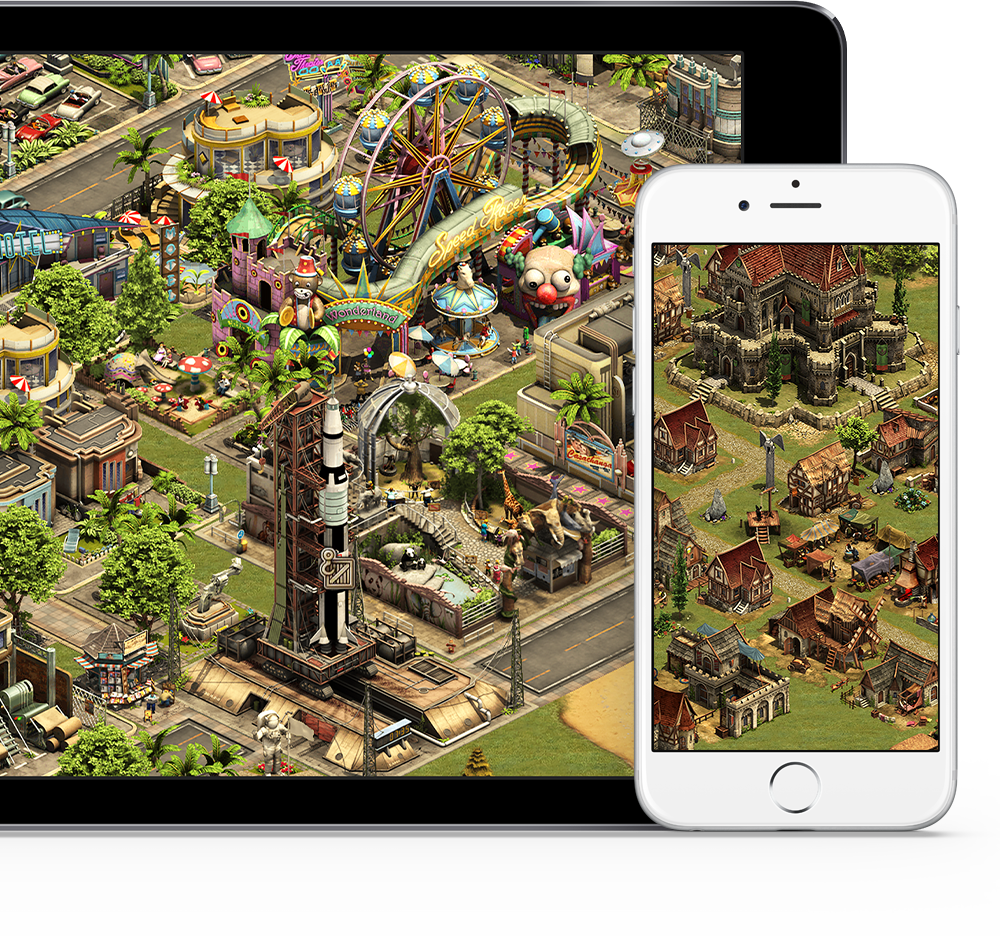 Forge of Empires on touch devices
