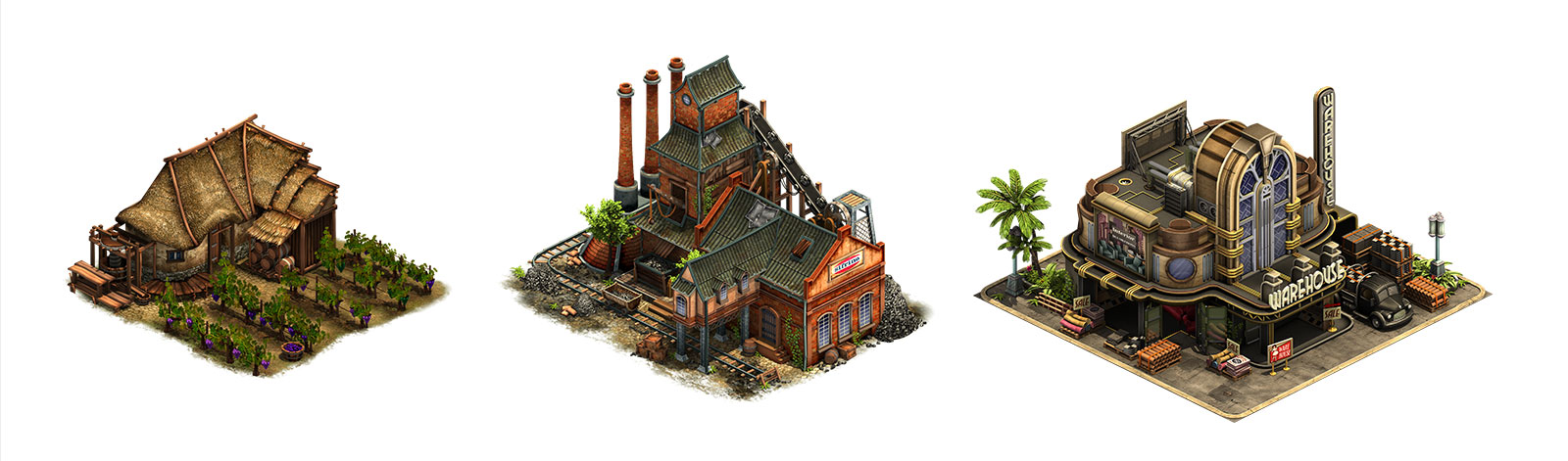 Forge of Empires building examples