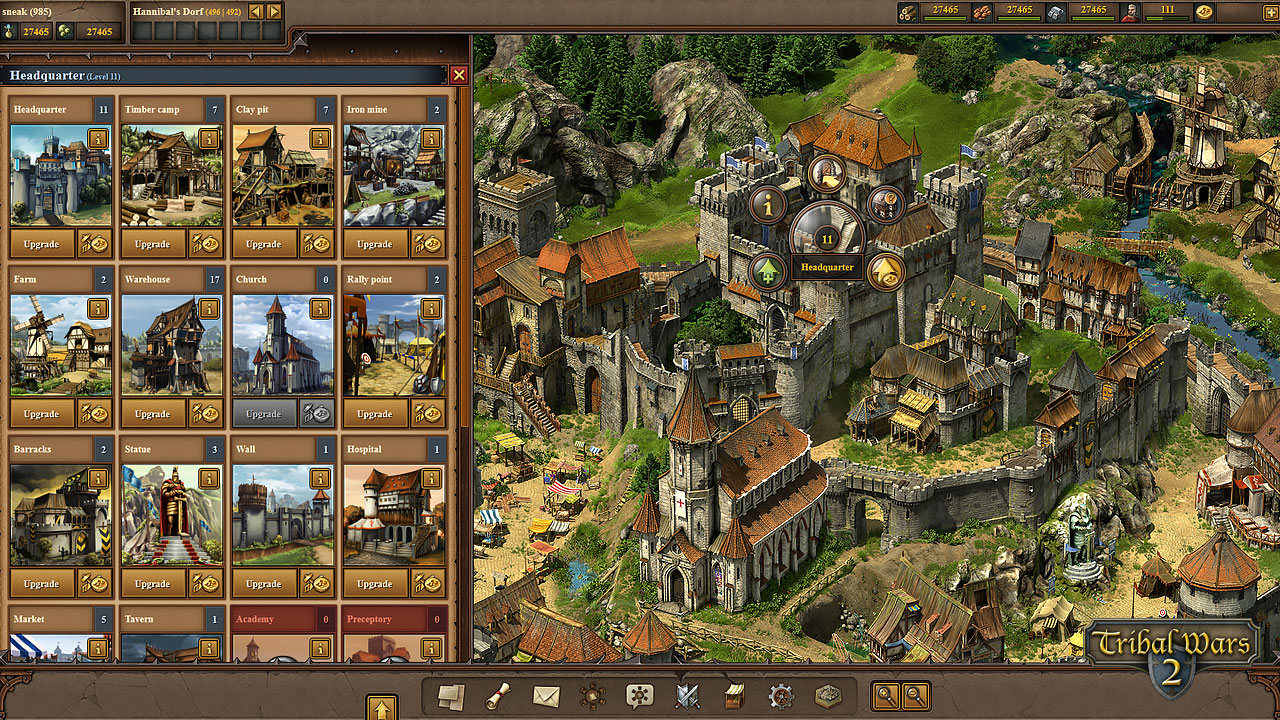 Tribal wars 2 le jeu de strat gie en ligne par for Home builder online